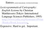 entrees lexicogrammar system networks