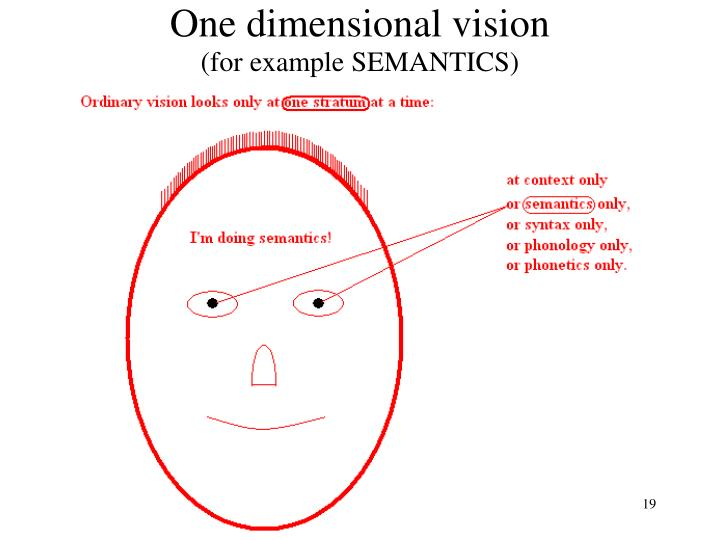 One dimensional vision