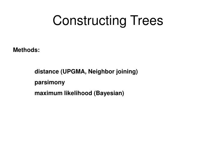 Constructing Trees