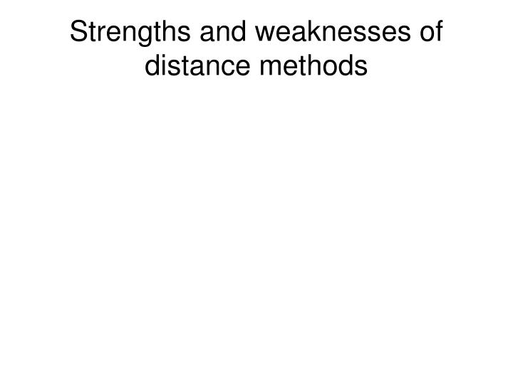 Strengths and weaknesses of distance methods