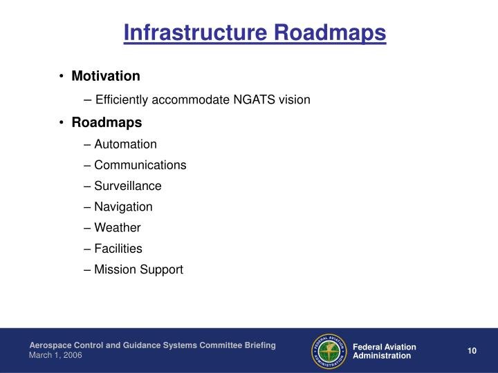 Infrastructure Roadmaps