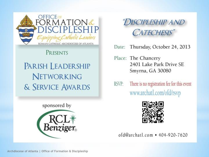 Archdiocese of Atlanta | Office of Formation & Discipleship