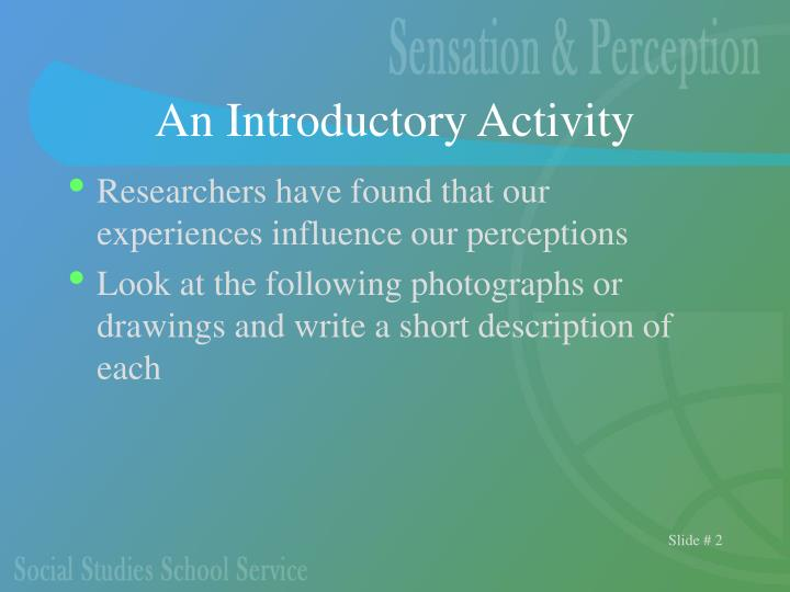 An Introductory Activity
