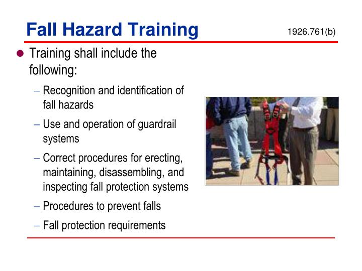 Fall Hazard Training