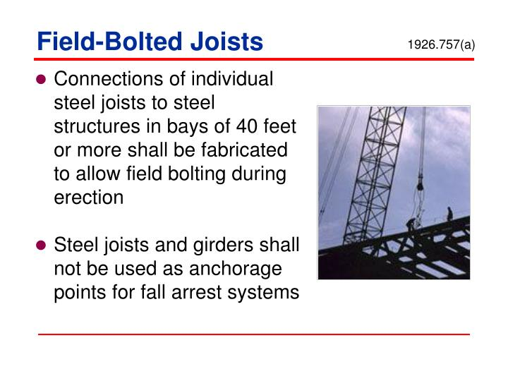 Field-Bolted Joists