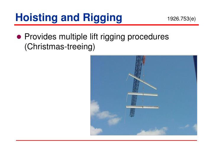 Hoisting and Rigging