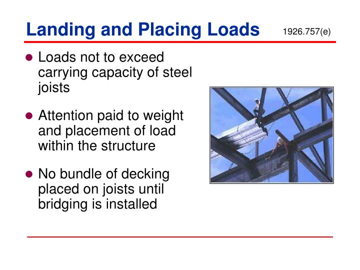 Landing and Placing Loads