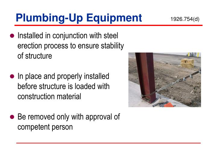 Plumbing-Up Equipment
