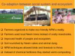 co adaption between social system and ecosystem