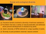 social and ecological diversity