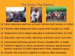 the crisis the decline