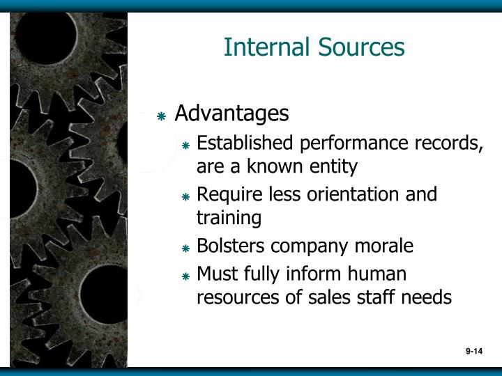 Internal Sources