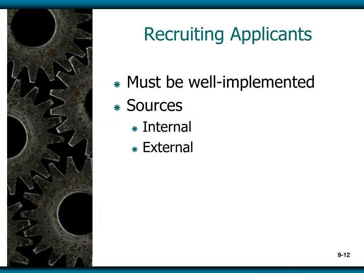 Recruiting Applicants