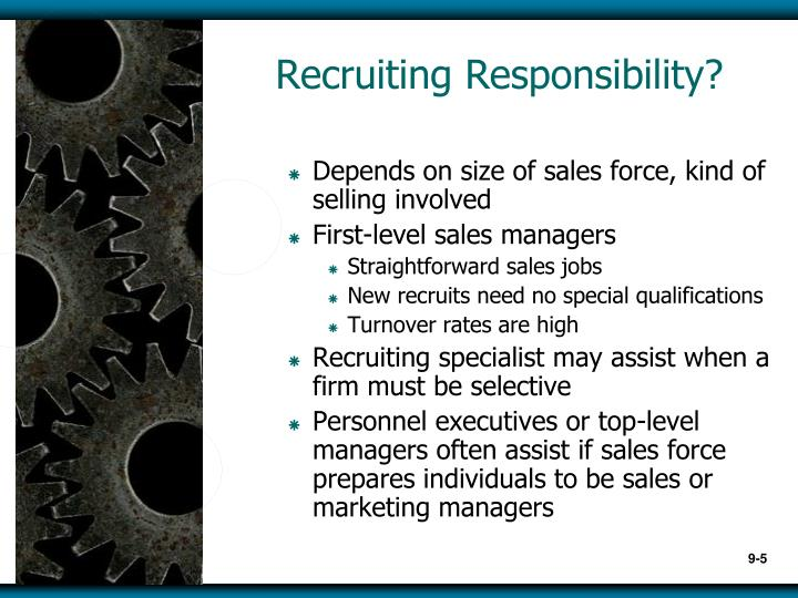 Recruiting Responsibility?