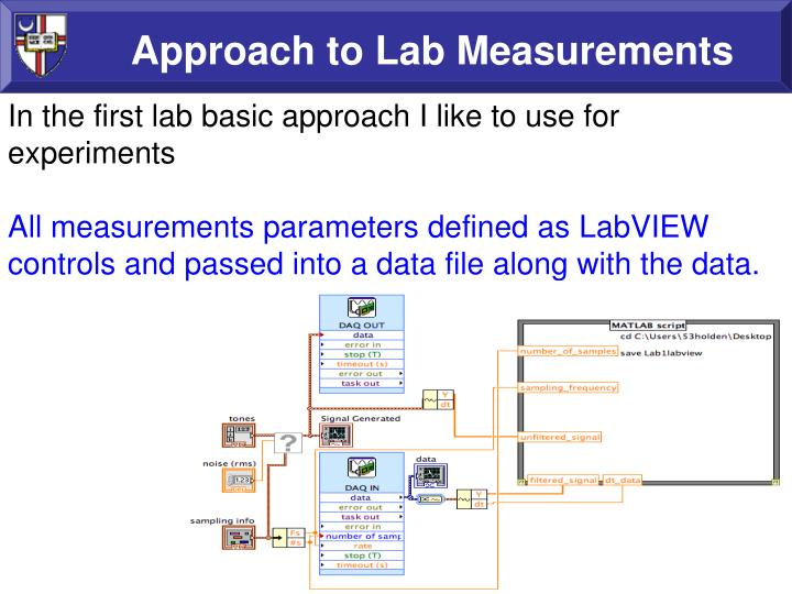 Approach to lab measurements1