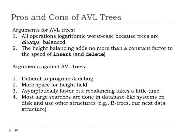 Pros and Cons of AVL Trees