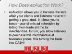 how does ezauction work