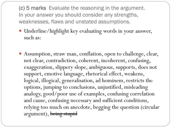 (c) 5 marks