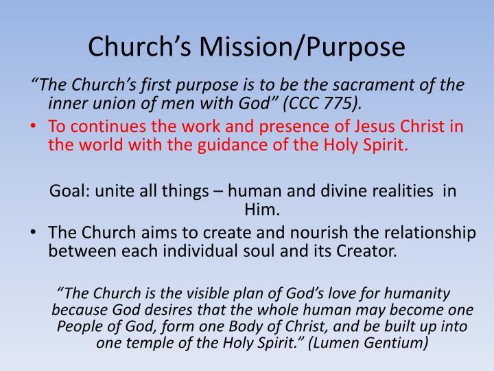 Church's Mission/Purpose