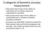 3 categories of biometric accuracy measurement