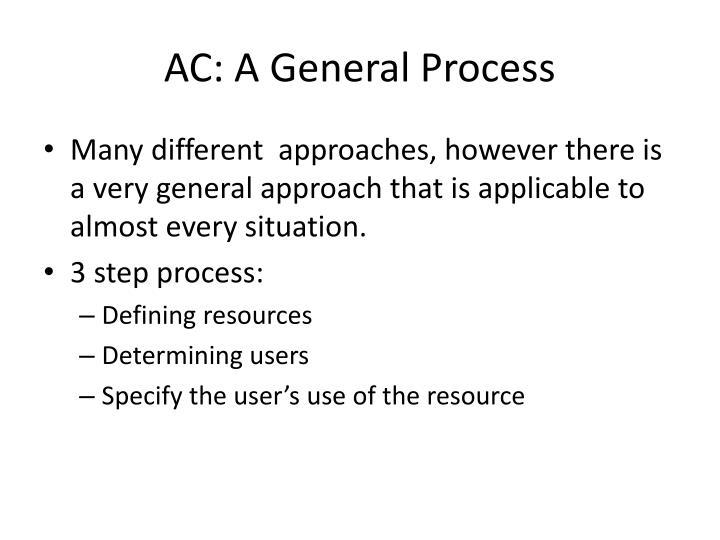 AC: A General Process