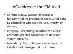 ac addresses the cia triad