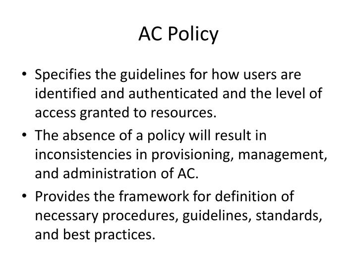 AC Policy
