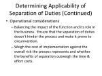 determining applicability of separation of duties continued2