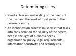 determining users