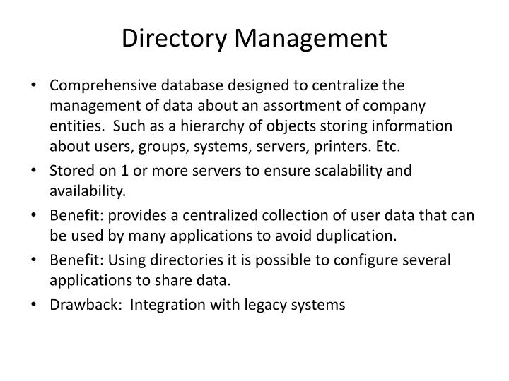 Directory Management