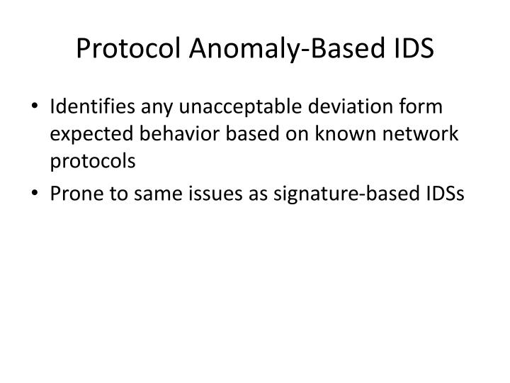 Protocol Anomaly-Based IDS