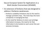 secure european system for applications in a multi vendor environment sesame
