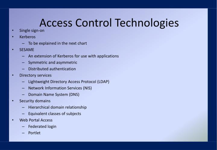 Access Control Technologies