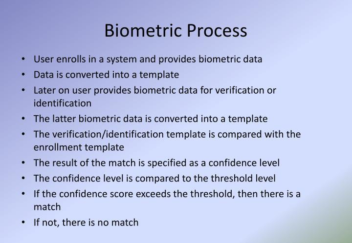 Biometric Process
