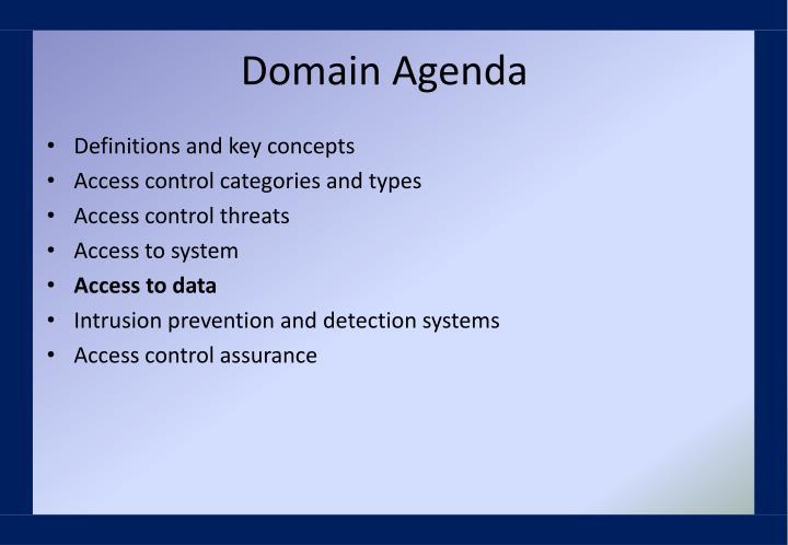 Domain Agenda