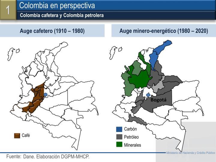 Colombia cafetera y Colombia petrolera