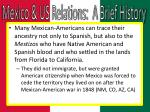 mexico us relations a brief history