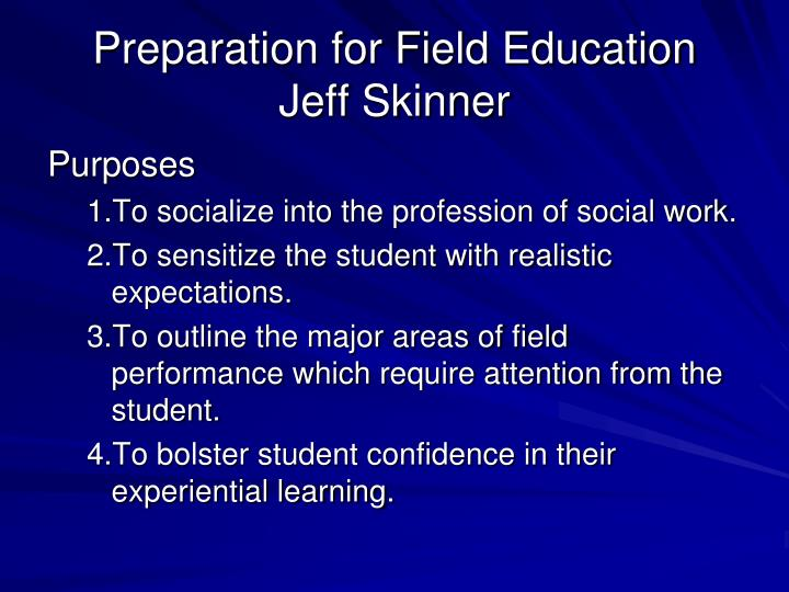 Preparation for Field Education