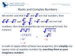 roots and complex numbers
