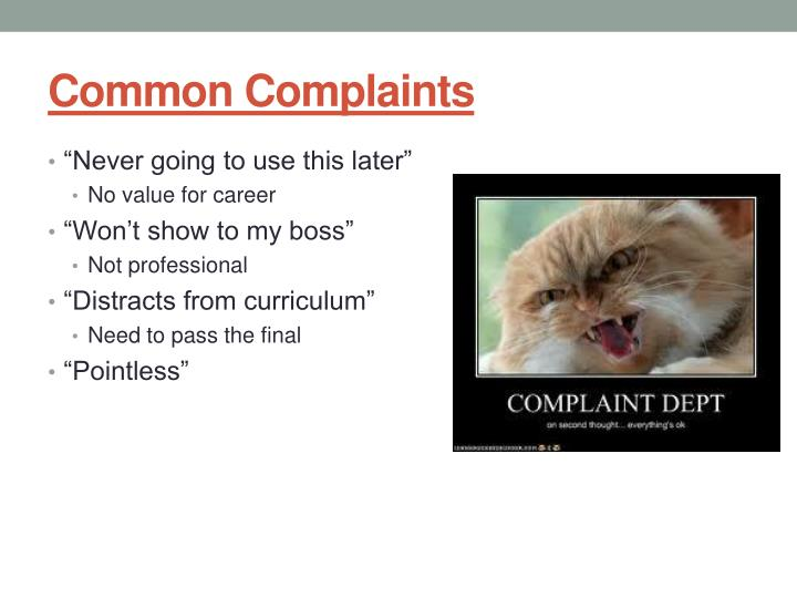 Common Complaints