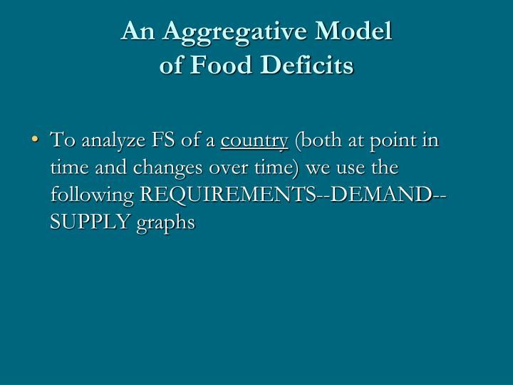 An Aggregative Model