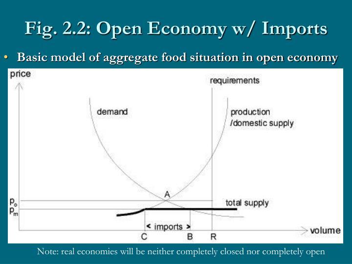 Fig. 2.2: Open Economy w/ Imports
