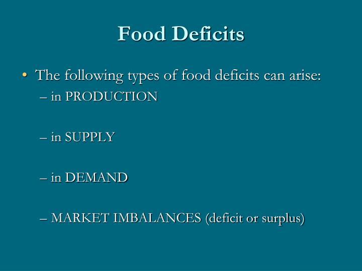 Food Deficits