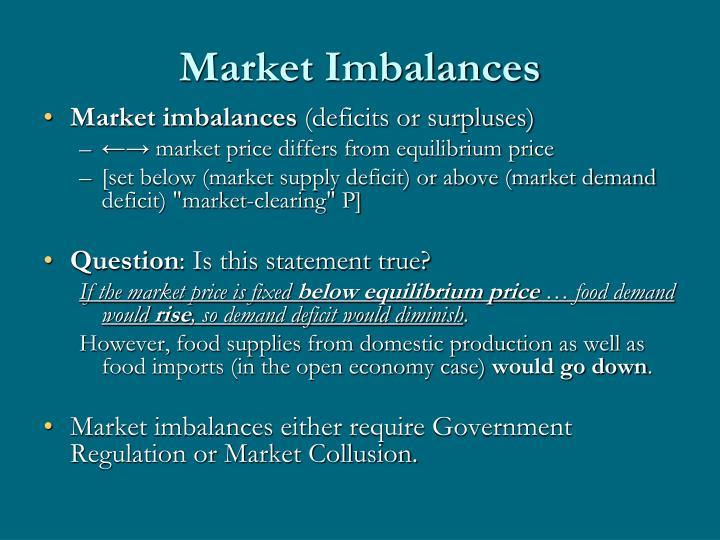 Market Imbalances