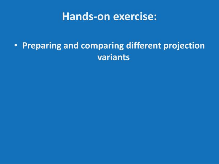 Hands-on exercise: