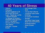 4 0 years of stress