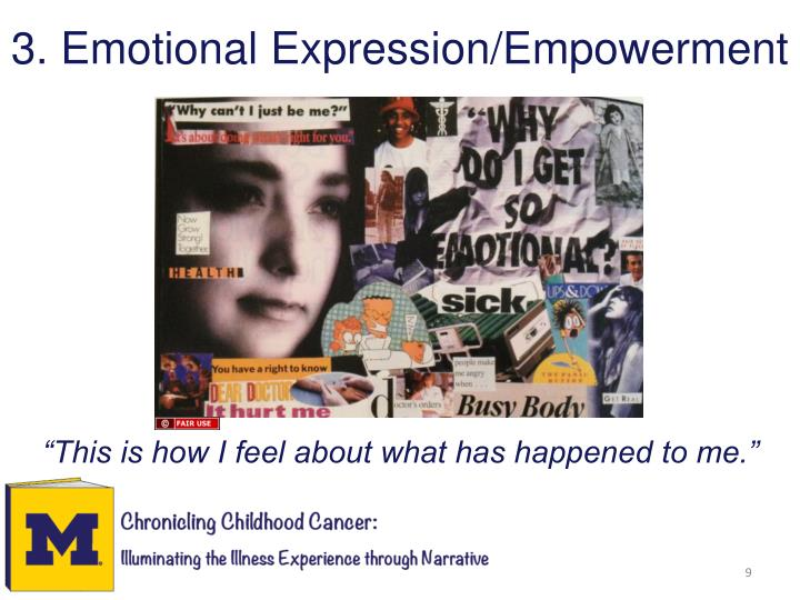 3. Emotional Expression/Empowerment