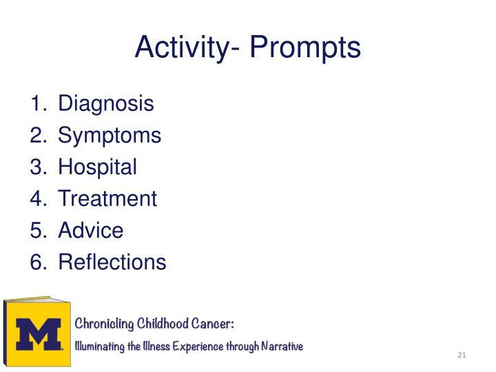 Activity- Prompts