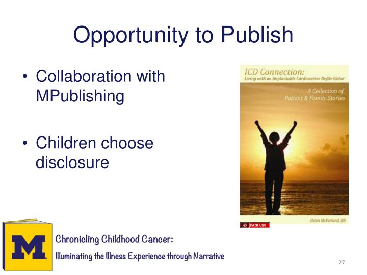 Opportunity to Publish