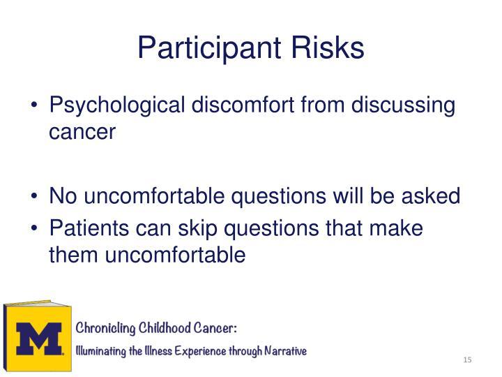 Participant Risks